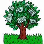 дерево з доларами